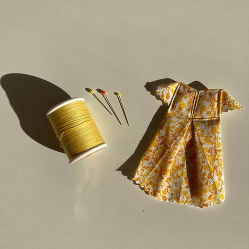 10,5cm x 7,5cm - ROBE Origami - FLEURS JAUNES