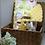 Thumbnail: Couverture HIBOUX INDIENS en tissu doux Minky et coton, env. 95x71cm