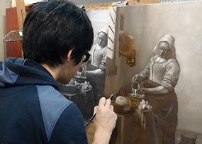 Dota with artwork at Kline Academy