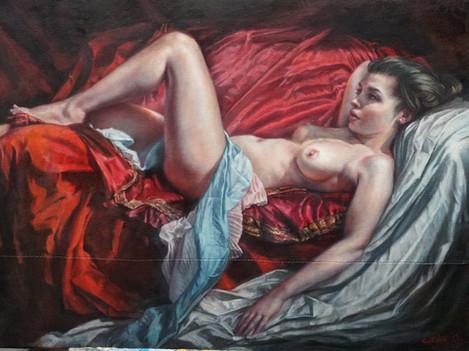 Reclining Nude by Thomas Garner