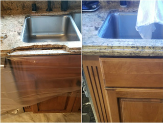We Restored a whole Granite Countertop!