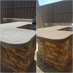 outdoor cement staining