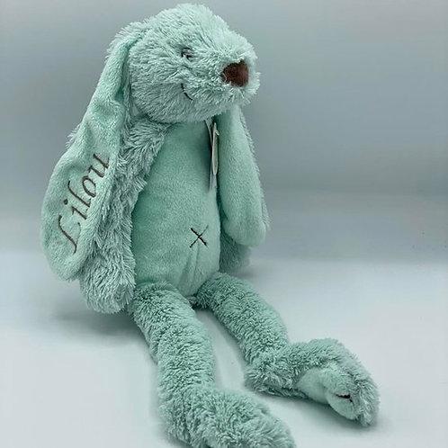 Zacht knuffelkonijn met naam (28cm)