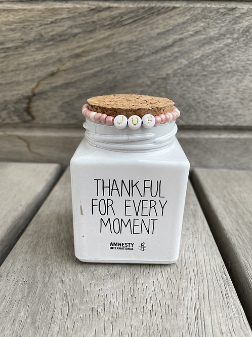 Geurkaars -JUF Thankful for every moment