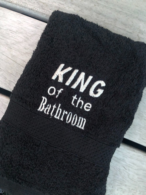"Handdoek ""King of the bathroom"""
