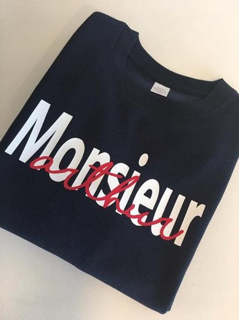 Kindersweater Monsieur met naam