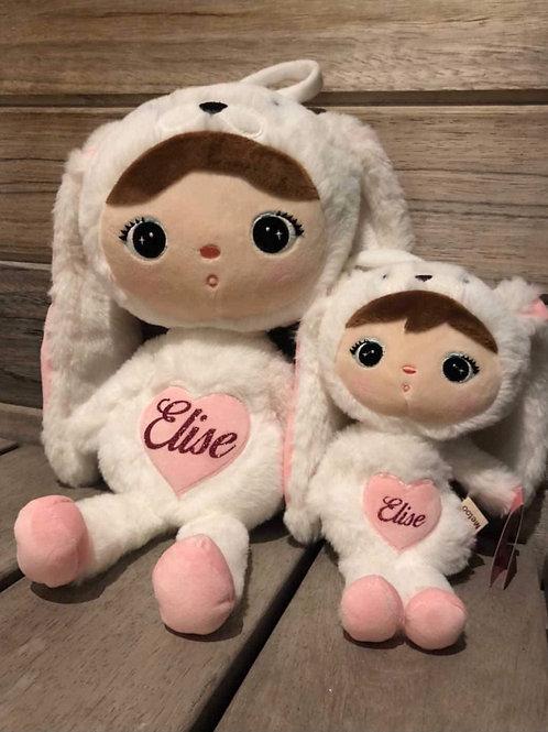 METOO knuffel konijn wit klein met naam saona Aalst