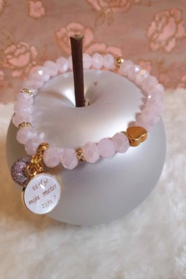 Armband facetparels - Tiele | Gepersonaliseerde armbanden | Saona Aalst
