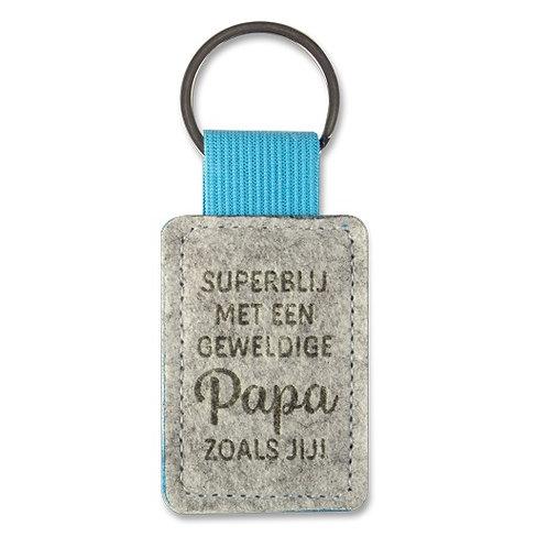 Sleutelhanger Superblij met een geweldige papa zoals jij! saona aalst
