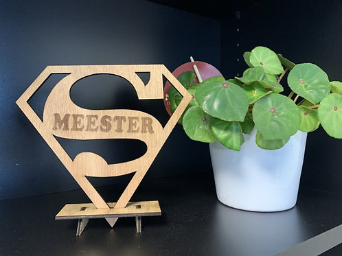 Houten Staander - Super meester