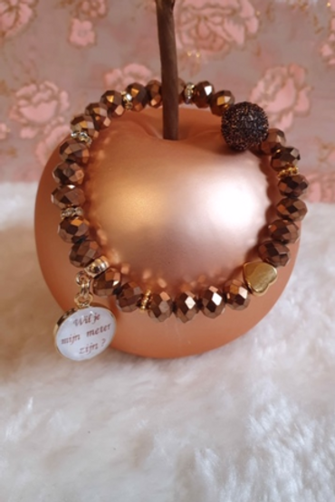 Armband facetparels - Marie | Gepersonaliseerde armbanden | Saona Aalst