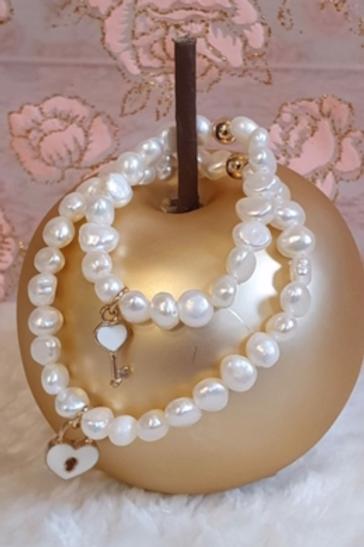 Armband Swarovski parels - Victoria   Gepersonaliseerde Armbanden   Saona Aalst