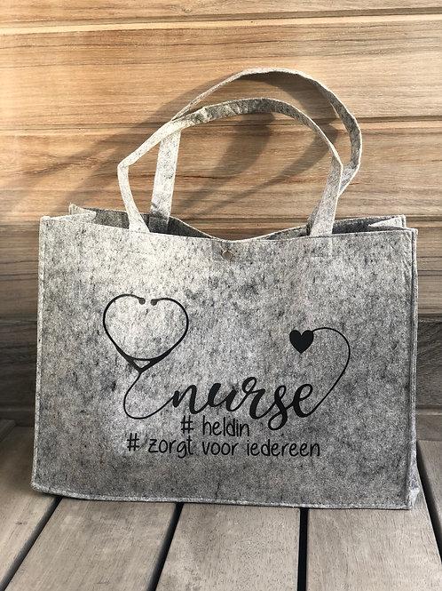 Vilten tas licht grijs nurse