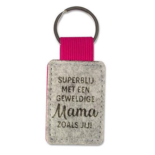 Sleutelhanger Superblij met een geweldige mama zoals jij saona Aalst