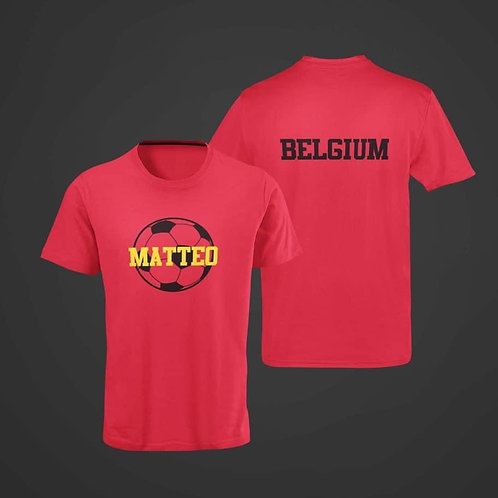 Voetbal T-shirt met naam