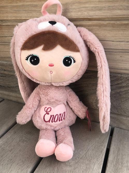 METOO knuffel konijn rose groot met naam saona Aalst