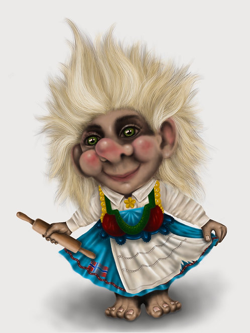 Alice The Troll post card