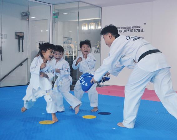 Kickmatics Taekwondo Tots Class Footwork