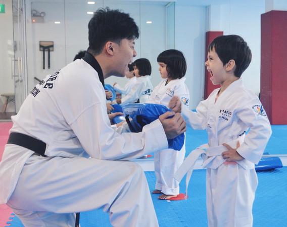 Kickmatics Taekwondo Practicing Hammer Fist