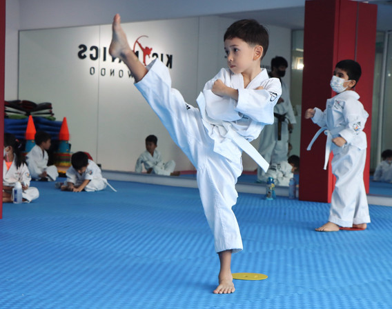 Kickmatics Taekwondo High Front Kick