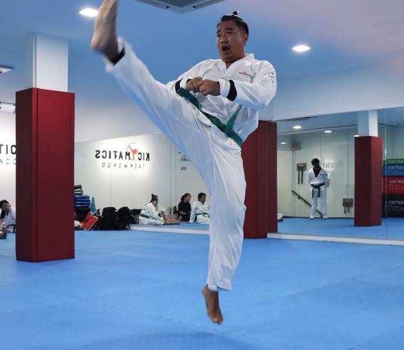 Kickmatics Taekwondo Jumping Front Kick Adult Class