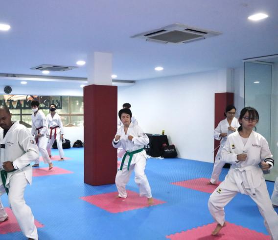 Kickmatics Taekwondo Footwork Sparring Adult Class