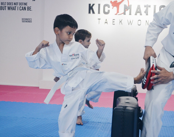 Kickmatics Taekwondo Side Kick Practice
