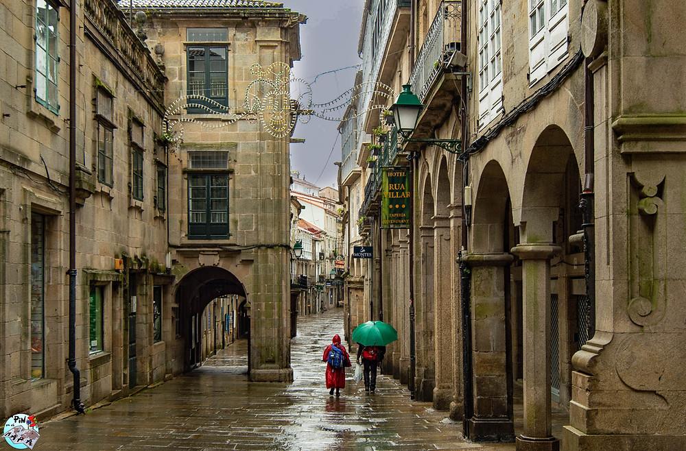 Rúa do Vilar en Santiago de Compostela | Un Pin en el Mapa