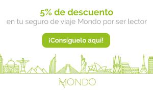 5% de descuento en seguro de viajes Mondo | Un Pin en el Mapa