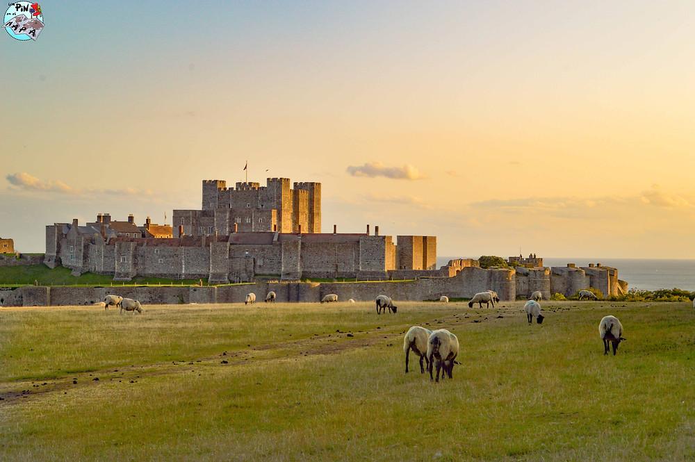 Atardecer en el Castillo de Dover | Un Pin en el Mapa