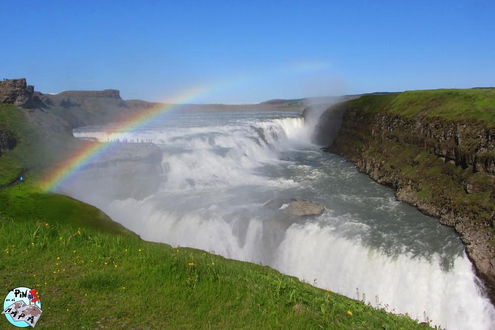 Cascada Gullfoss, Islandia | Un Pin en el Mapa
