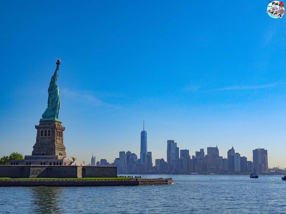Estatua de la Libertad en Nueva York    Un Pin en el Mapa