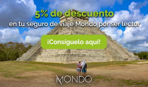 5% de descuento seguro de viajes Mondo | Un Pin en el Mapa