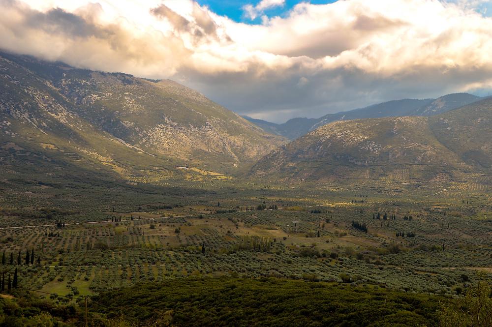 Vistas desde el Monasterio de Hosios Loukas | Un Pin en el Mapa