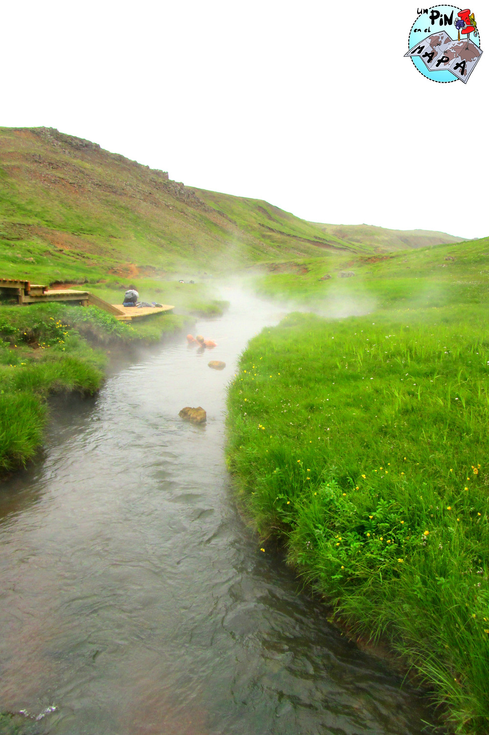 Río termal en Hveragerdi, Islandia | Un Pin en el Mapa