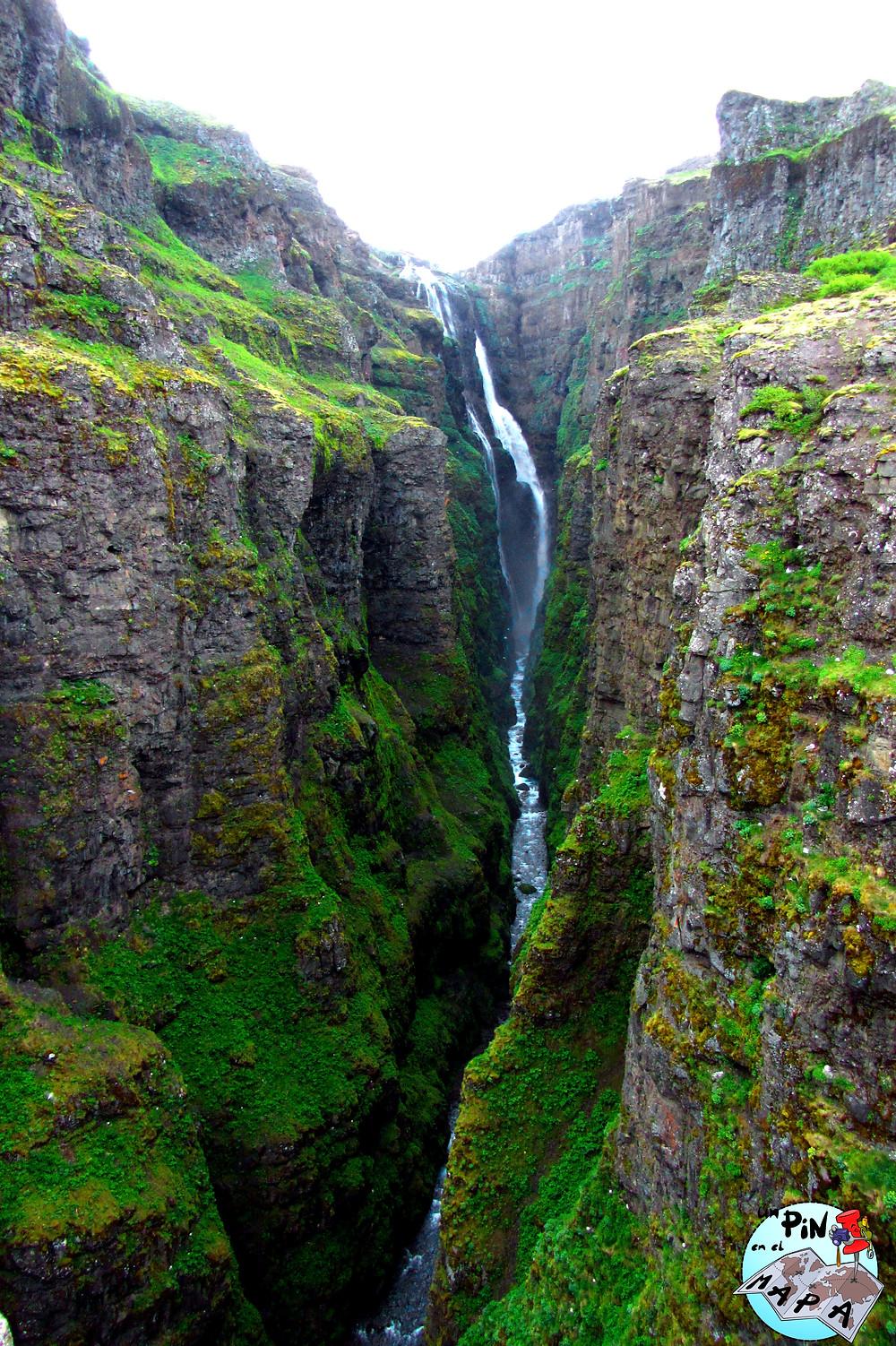 Cascada Glymur, Islandia | Un Pin en el Mapa