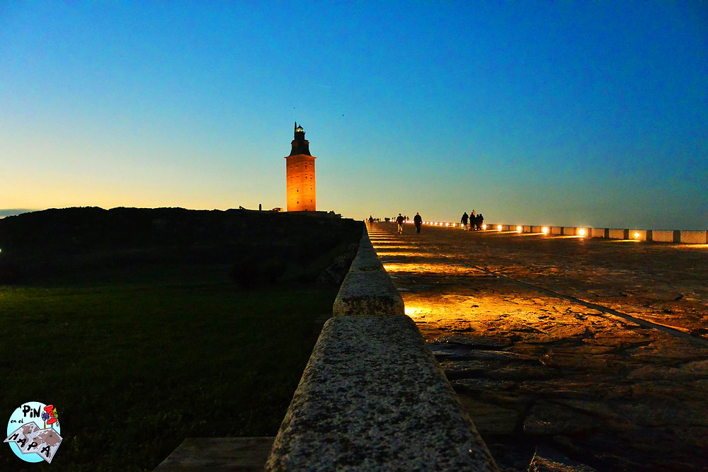 Torre de Hércules, La Coruña   Un Pin en el Mapa