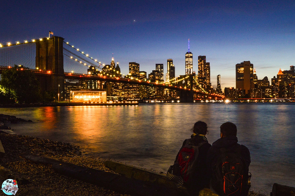 Vistas de Manhattan desde Brooklyn | Un Pin en el Mapa