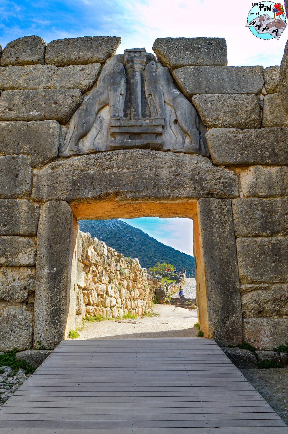 Puerta de los Leones en Micenas | Un Pin en el Mapa