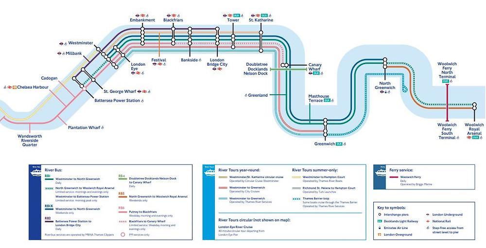 Ruta de los barcos en Londres | Un Pin en el Mapa