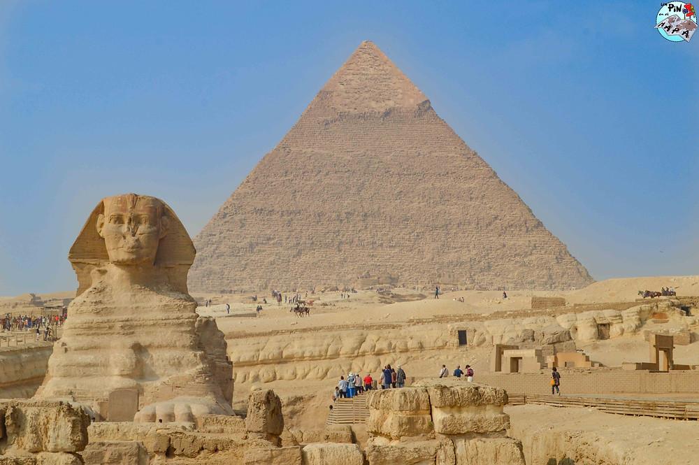 Pirámide de Kefrén y la Esfinge de Giza | Un Pin en el Mapa