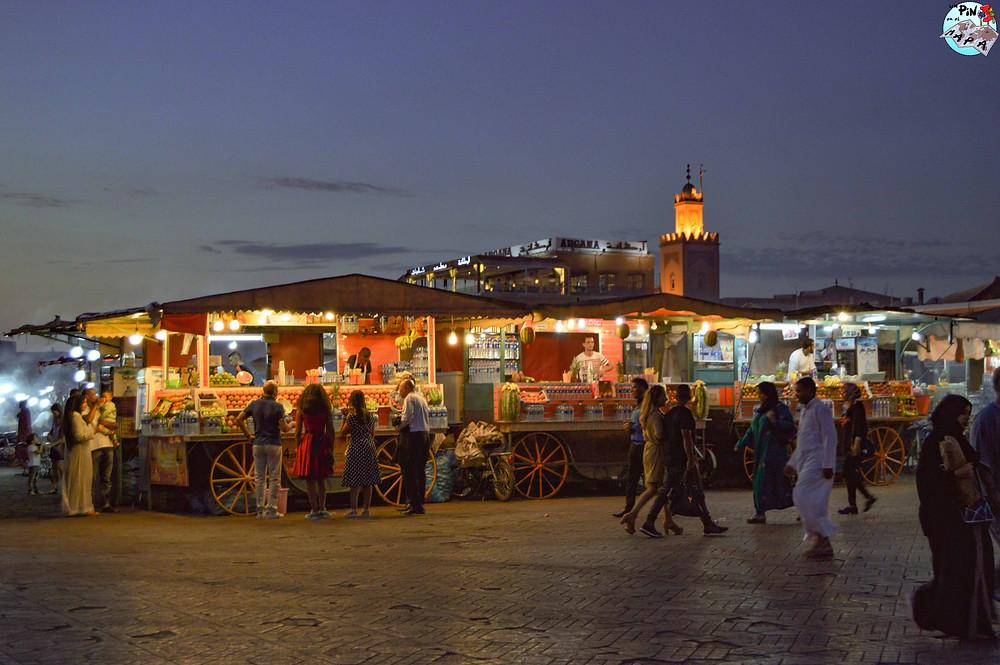 Marrakech por la noche | Un Pin en el Mapa