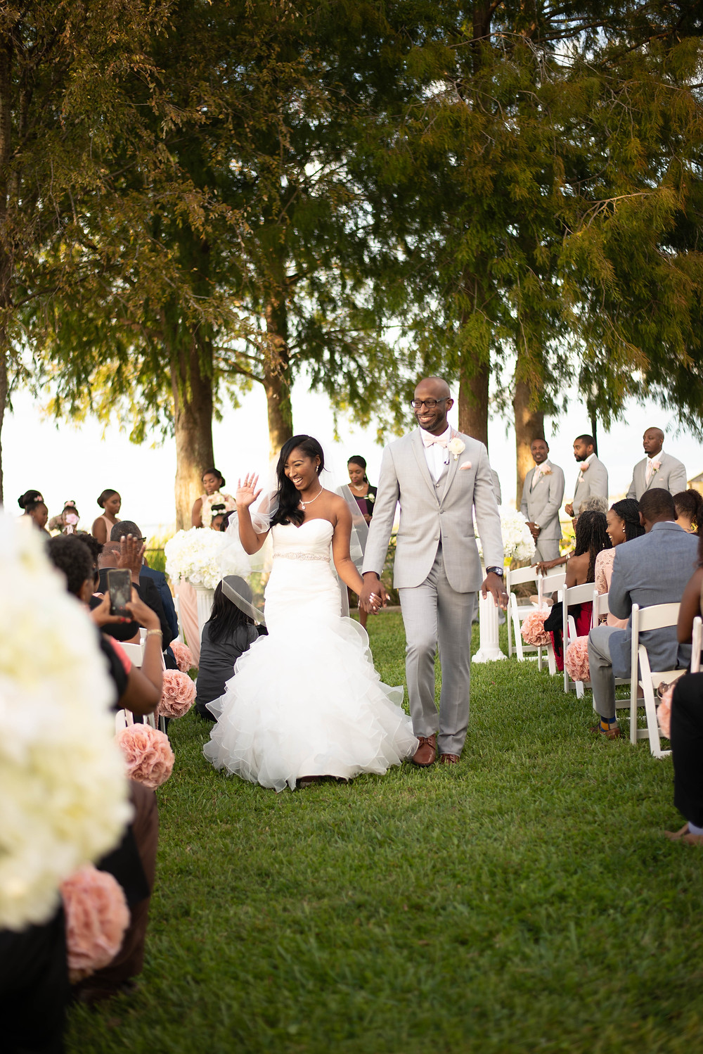 Bride and Groom Wedding Ceremony at Tanner Hall in Winter Garden, Florida