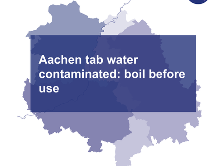 Aachen tap water contaminated: boil before use