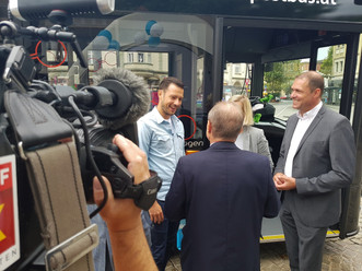 VP Landesrat Mag. Sebastian Schuschnig mit VP Stadtrat Markus Geiger