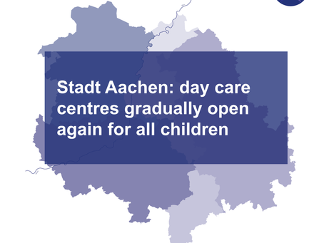 Stadt Aachen: childcare centres gradually open again for all children