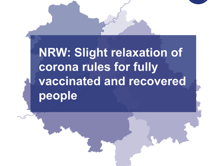 NRW: Slight relaxation of corona regulations for fully vaccinated and recovered people
