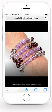 Cambridge Jewellery Co website iPhone #5