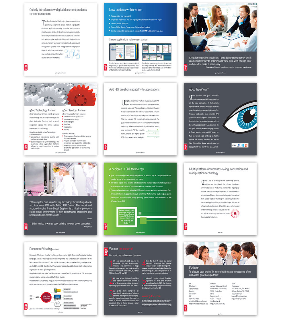 gDoc brochure pages