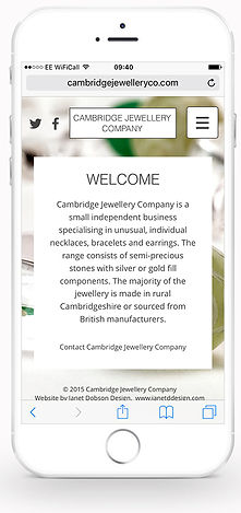 Cambridge Jewellery Co website iPhone #1